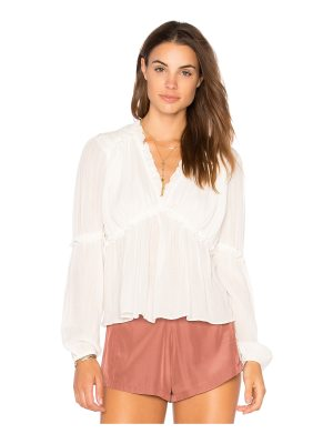 endless rose Ruffle Sleeve Accent Top