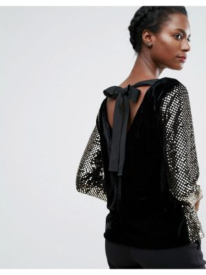 endless rose Sequin Long Sleeve Top