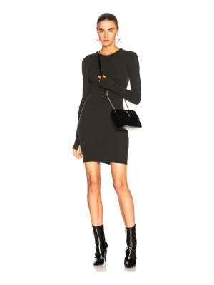 Enza Costa Cashmere Cuffed Sleeve Dress