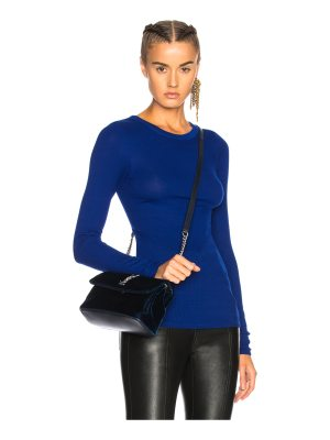 Enza Costa Rib Fitted Long Sleeve Crew