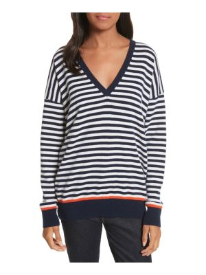 Equipment lucinda stripe wool & cashmere sweater