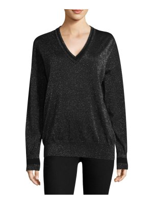 Equipment lucinda v-neck lurex sweater