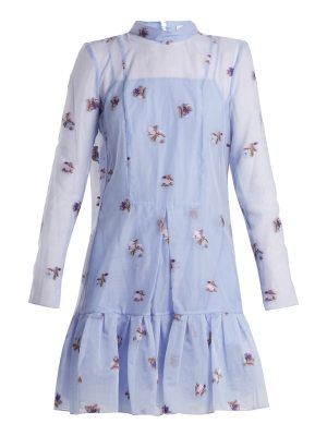 Erdem Cosima Ditsy Floral fil-coupé silk dress