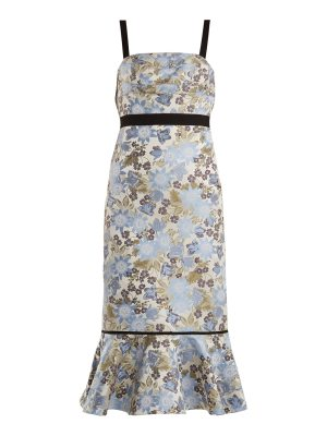 Erdem Eunice Floral Jacquard Dress
