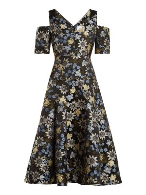 Erdem Yamal Floral Jacquard Dress
