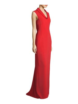 Escada cowlneck floor-length gown