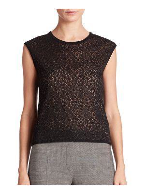 Escada Floral Fil Coupe Knit Shell