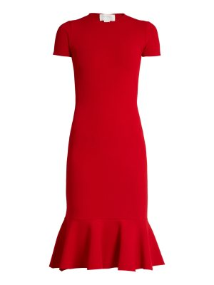 ESTEBAN CORTÁZAR Cut-out back crepe-jersey dress