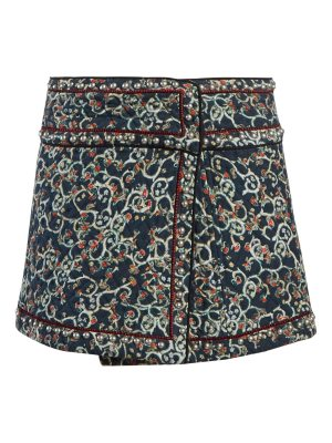 Etoile Isabel Marant hanon quilted cotton blend mini skirt