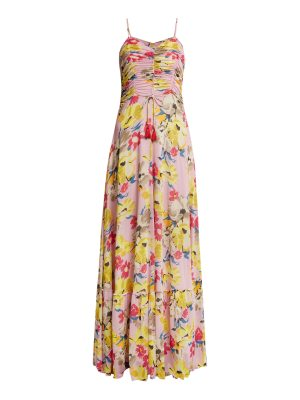 Etro Cassiopea Floral Print Ruched Maxi Dress