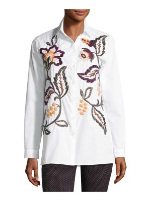 Etro Floral-Embroidered Cotton Shirt
