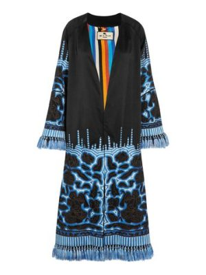 Etro tasseled embroidered silk