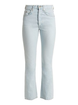 Eve Denim jane high rise straight leg cropped jeans