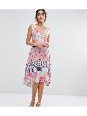 Every Cloud Floral Hi Low Hem Midi Dress