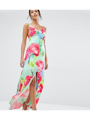 Every Cloud Rose Print Strappy Maxi Dress