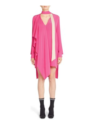 Fendi drape silk crepe de chine dress