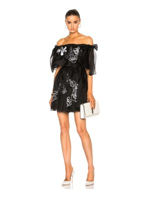 Fendi Embroidered Garden Organza Dress