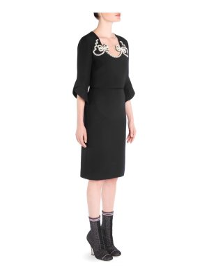 Fendi faux pearl cocktail dress