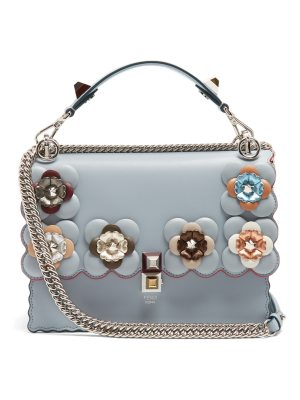 Fendi Kan I flower-embellished leather shoulder bag