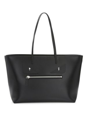 Fendi monster leather tote