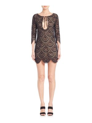 For Love & Lemons Rosalita Cutout Lace Dress