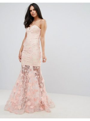 Forever Unique Sweetheart 3D Floral Maxi Dress