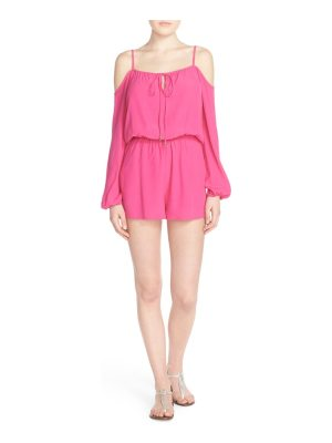 Fraiche by J cold shoulder romper