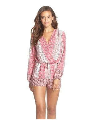 Fraiche by J print long sleeve romper