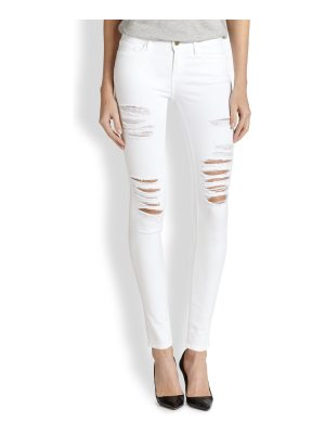 FRAME le color mid-rise skinny distressed jeans