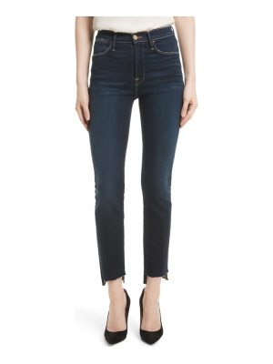 FRAME le high straight raw stagger jeans