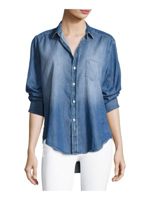 Frank & Eileen Long-Sleeve Button-Front Faded Denim Shirt