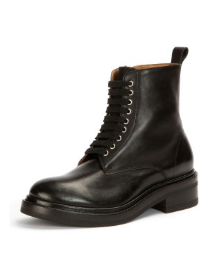 Frye Alice Combat Leather Boots