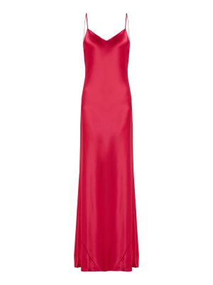 Galvan London Bias-cut satin-back crepe gown