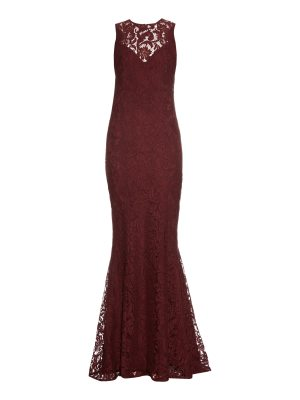 Galvan London Corded lace gown
