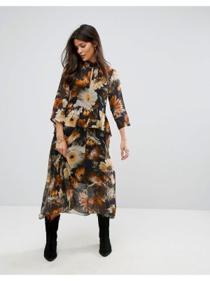 Gestuz Long Flower Print Dress