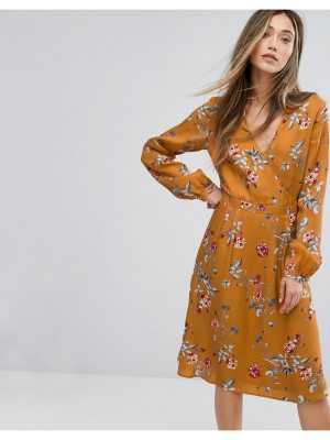 Gestuz Flower Print Wrap Dress