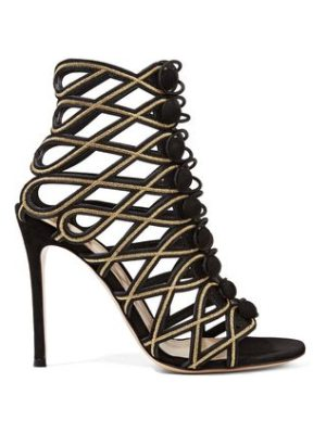 Gianvito Rossi embroidered suede sandals