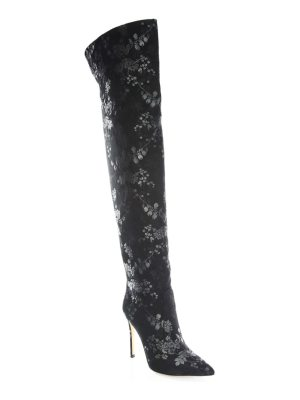 Gianvito Rossi floral print over-the-knee boots