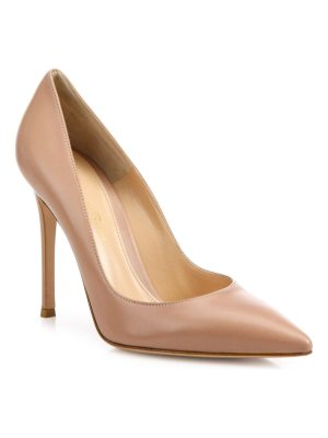 Gianvito Rossi leather point toe pumps