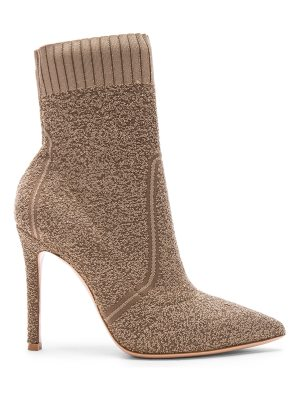 Gianvito Rossi Knit Boucle Katie Ankle Booties
