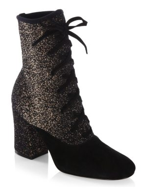 Gianvito Rossi knit lace booties