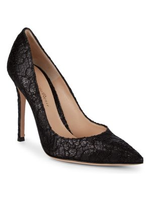 Gianvito Rossi Lace Stiletto Heels