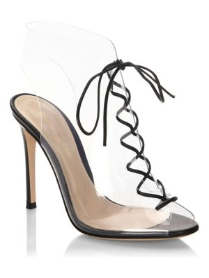 Gianvito Rossi plexi lace-up booties