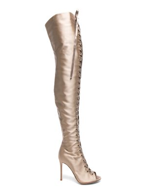 Gianvito Rossi Satin Marie Lace Up Boots
