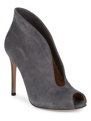 Gianvito Rossi Suede Cut-Out Pumps