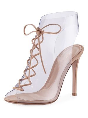 Gianvito Rossi Transparent Lace-Up 105mm Bootie
