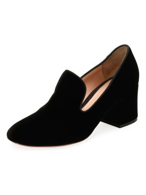 Gianvito Rossi Velvet Notched 50mm Loafer Pump