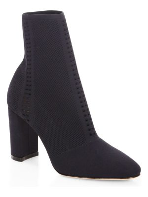 Gianvito Rossi vires knit block heel booties