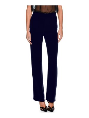 Giorgio Armani Straight-Leg Silk Pants