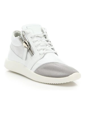 Giuseppe Zanotti leather & mesh side-zip sneakers